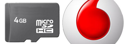Vodafone Spain Logo and MicroSD card