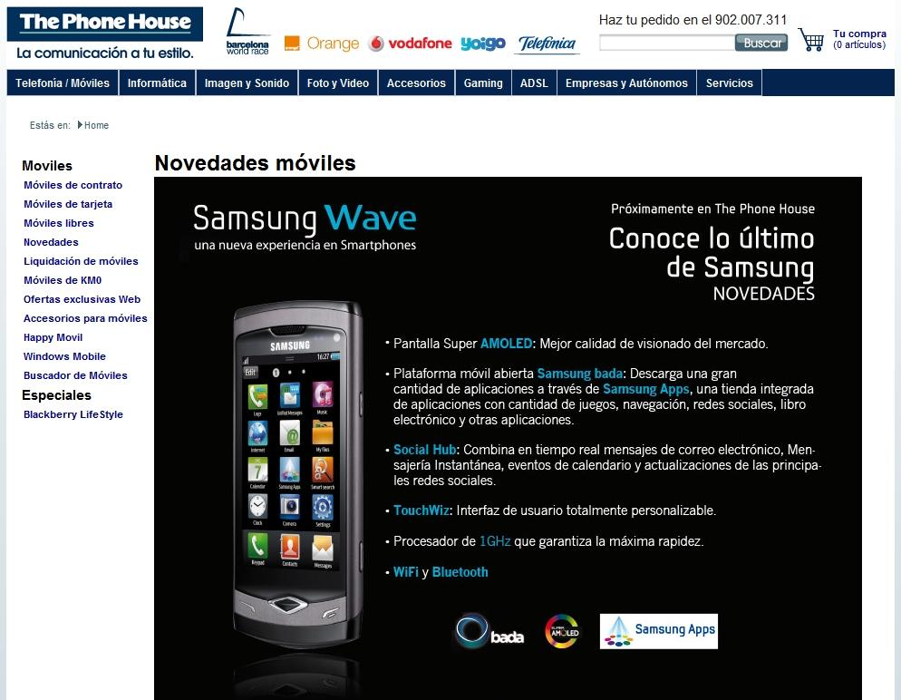 samsung wave phone house