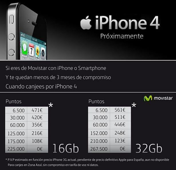 iphone 4 movistar tarifas