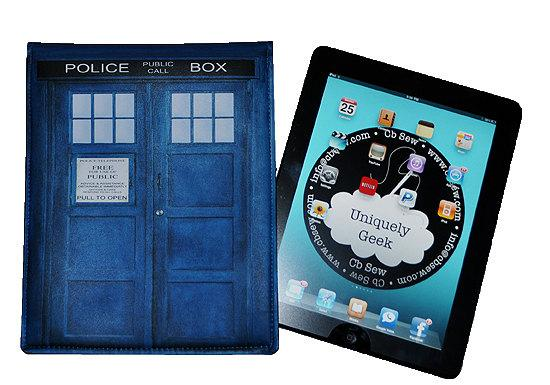 iPad Blue British Police Box  - Fits iPad 1 iPad 2