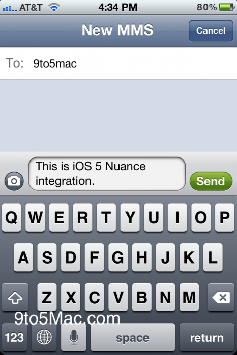 iOS 5 Beta 5 Dictation