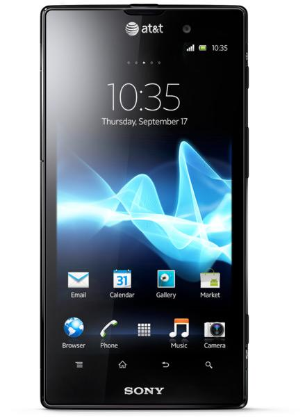 Frontal del Sony Xperia ion