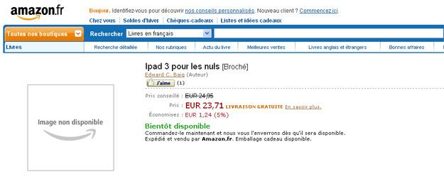 Captura de pantalla de Amazon en Francia