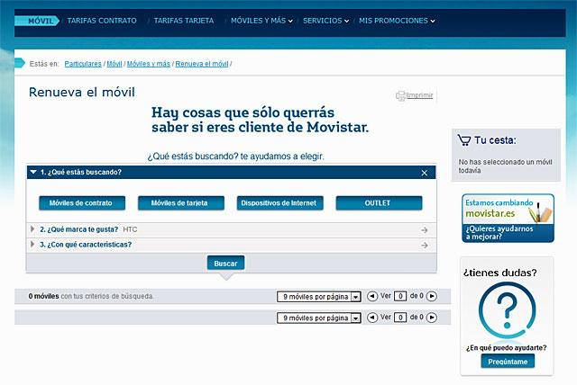 captura web movistar con htc