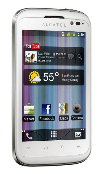 Alcatel One Touch Smart 991 tres cuartos