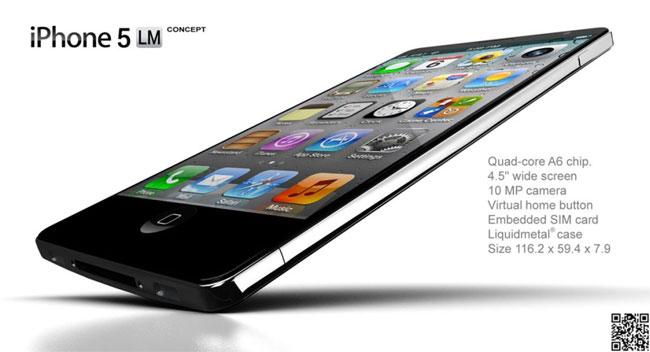 iPhone 5 Liquid Metal concepto