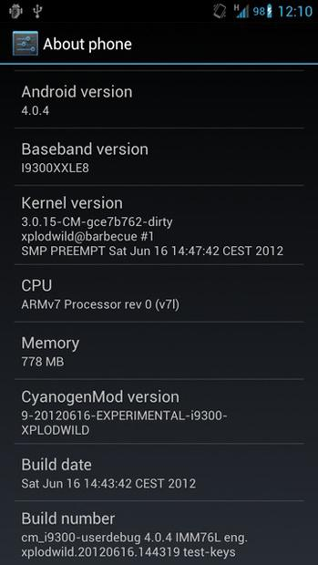CyanogenMod 9 Nightlies Galaxy S3