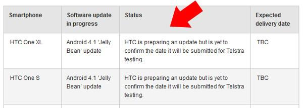 Actualización para los HTC One a Jelly Bean
