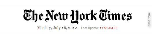 Logotipo de the new york times