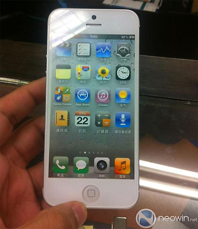 iPhone 5 blanco frontal