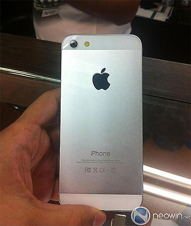 iPhone 5 blanco trasera