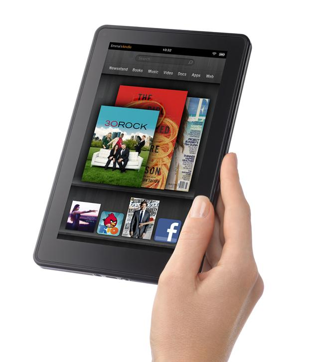 Kindle Fire de Amazon en la mano