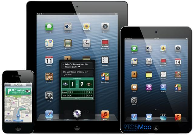 iPad Mini diseño junto con iPod Touch e iPad