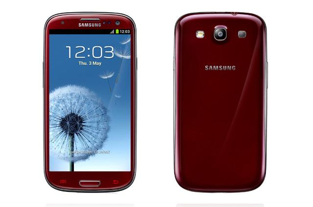 Samsung Galaxy S3 color rojo granate