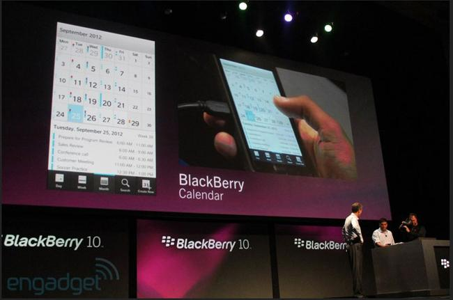 BlackBerry Calendar en BB10
