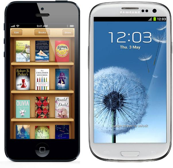 Apple iPhone 5 frente a Samsung Galaxy S3