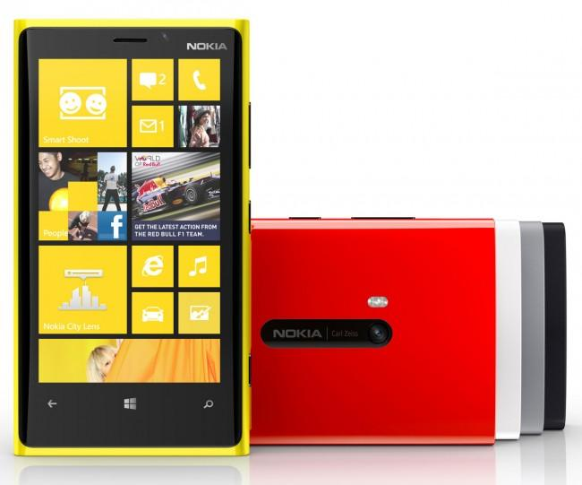 Nokia Lumia 920 en color amarillo y rojo
