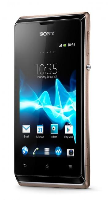 Sony Xperia E vista frontal