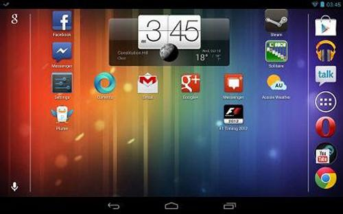Vista horizontal en la Nexus 7 con Android 4.1.2