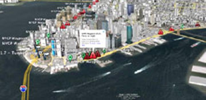 Mapa de New York en Google Mapas