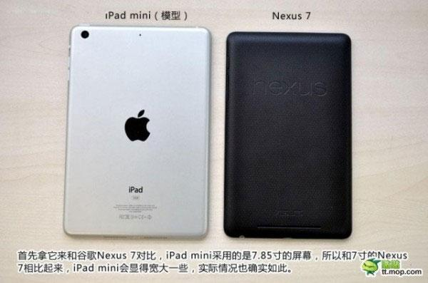 iPad Mini frente a Nexus 7