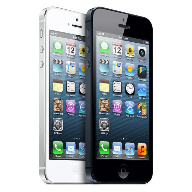 iPhone 5 en negro y blanco