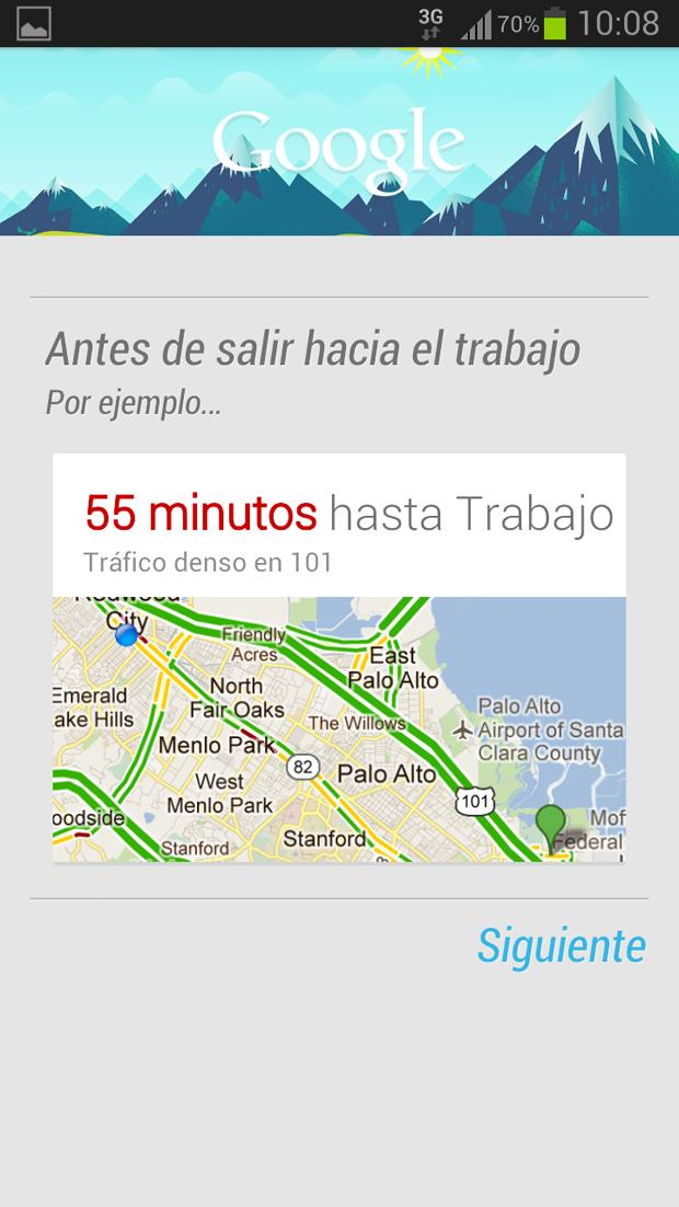 Google Now en el Galaxy™ S3