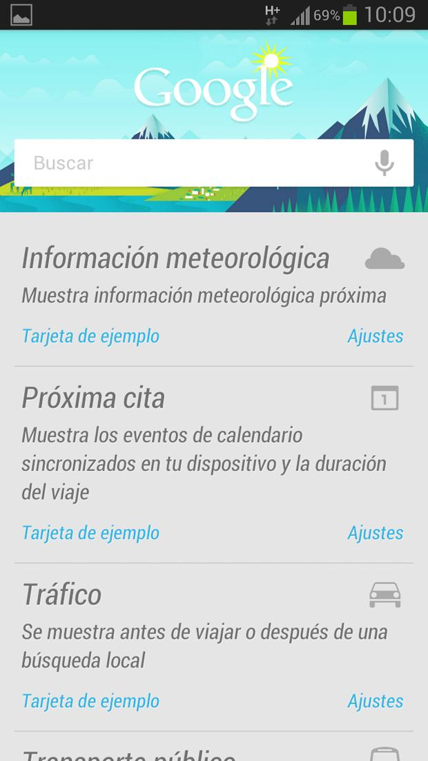 Google Now en el Samsung Galaxy S3