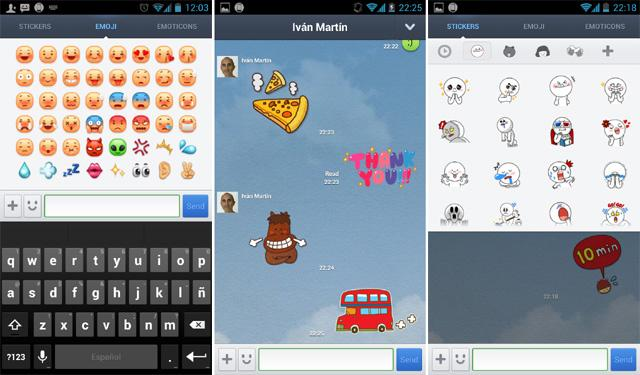 Line, emoticonos y stickers