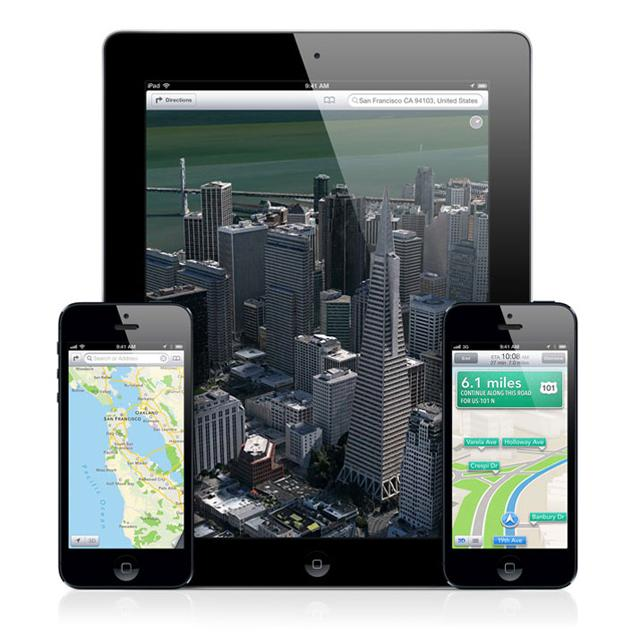 Apple Maps en dispositivos iOS