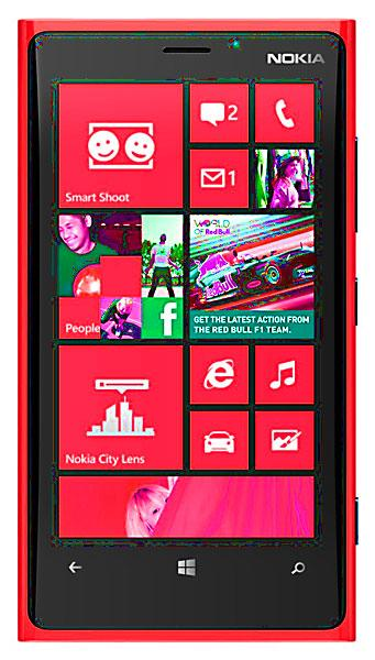 Nokia Lumia 920 en color rojo