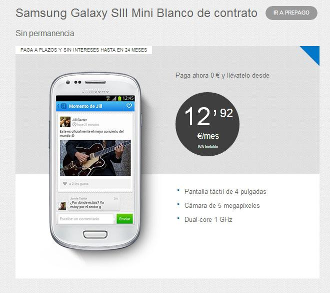 Galaxy S3 Mini con Tuenti Móvil