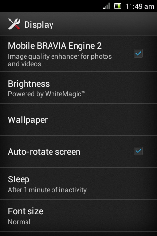 Mobile Bravia Engine 2 para Sony® Xperia