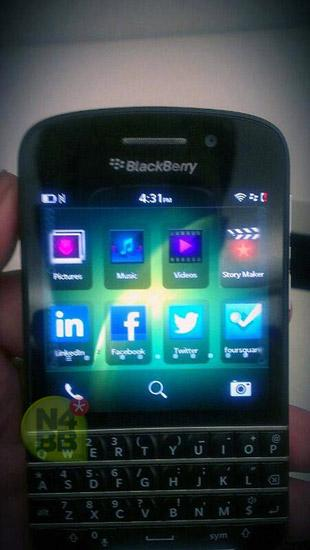 BlackBerry OS 10 en BlackBerry X10