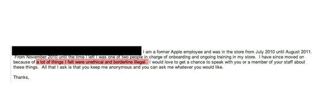 Email con posibles fraudes en Apple Store