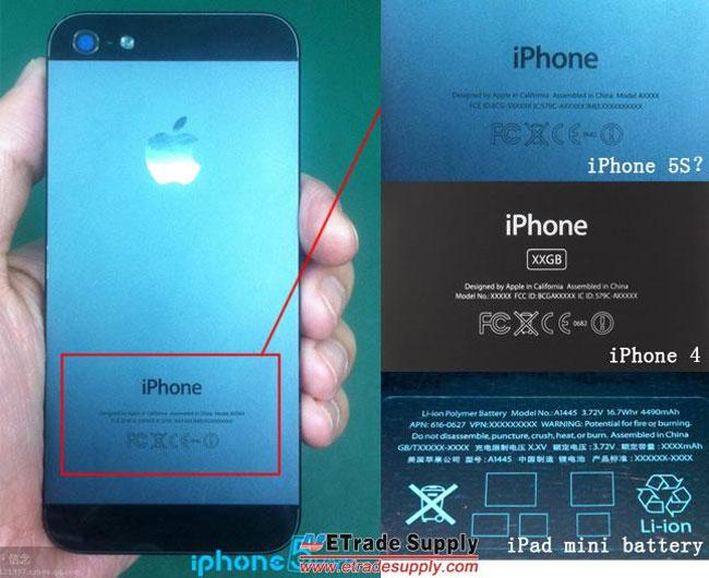 Numeración y referencias del iPhone 5S