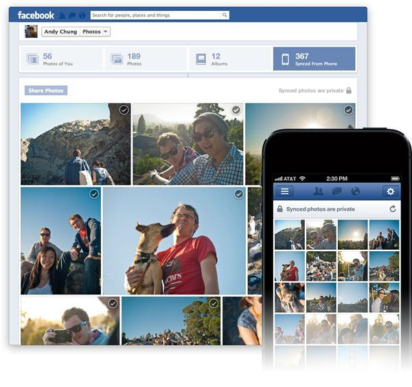 Photo Sync en la aplicación de Facebook en Android e iOS