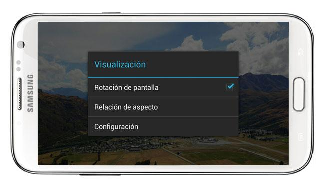 Rotación de pantalla en MX Player