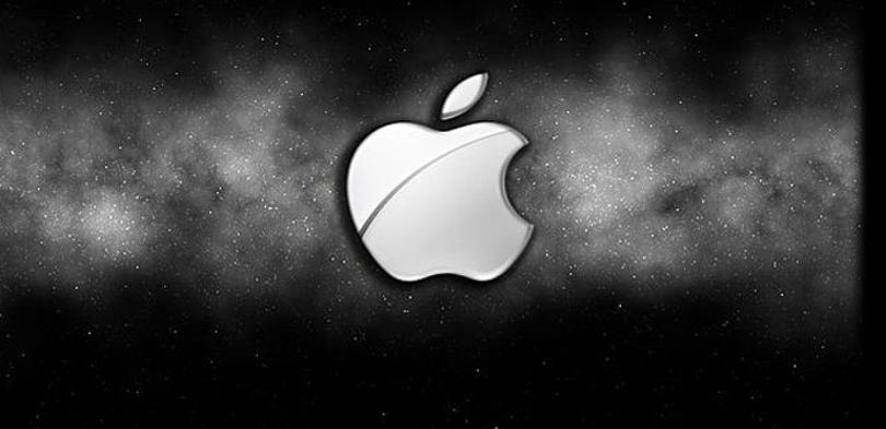 Logo de Apple en negro