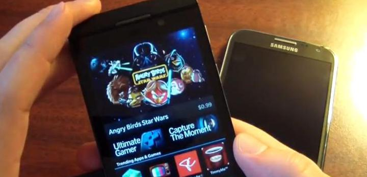 BB10 en vídeo frente a Android Jelly Bean