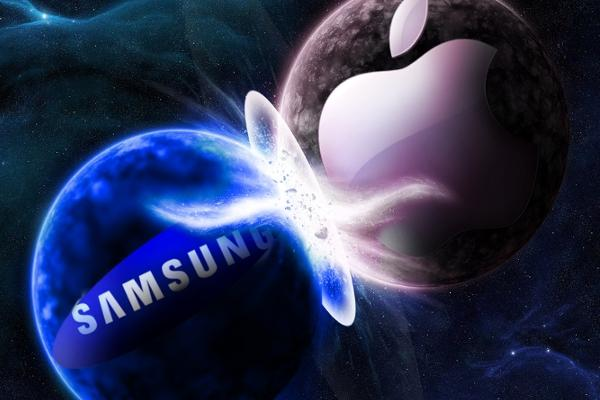 Logotipos de Samsung y Apple
