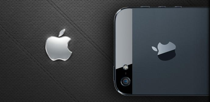 iPhone 5 con logo de Apple