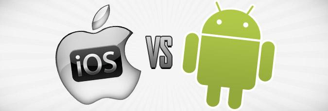 Logotipos de iOS y Android