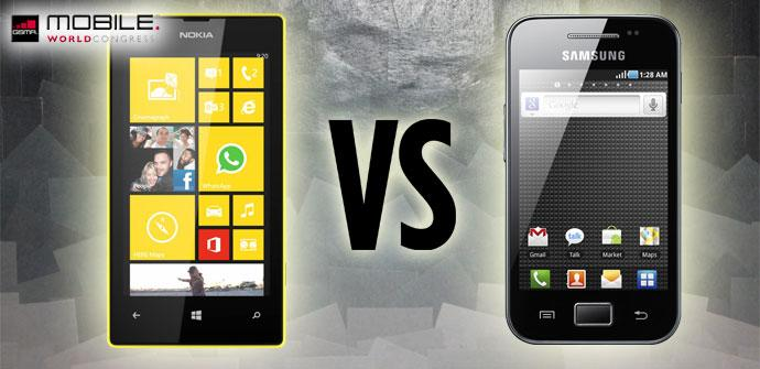 Comparativa Nokia Lumia 520 vs Samsung Galaxy Ace