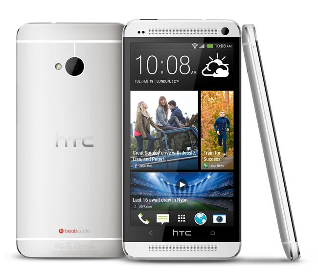 HTC One en color blanco