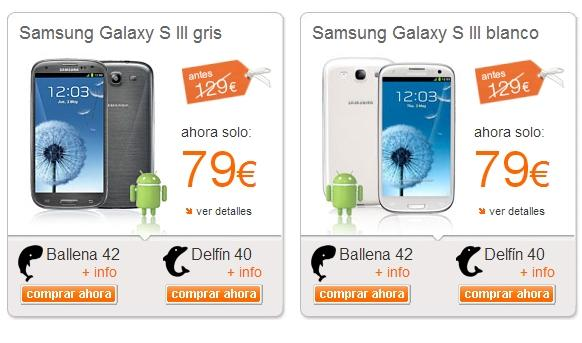 Oferta Samsung Galaxy S3 de Orange
