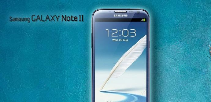 Samsung Galaxy Note 2 en color azul topacio