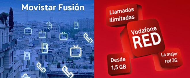 Movistar Fusión y Vodafone Red