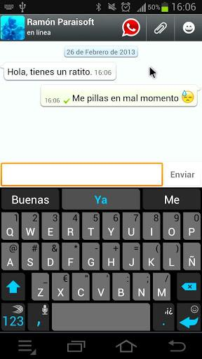 Pantalla de Whatsapp Shadow