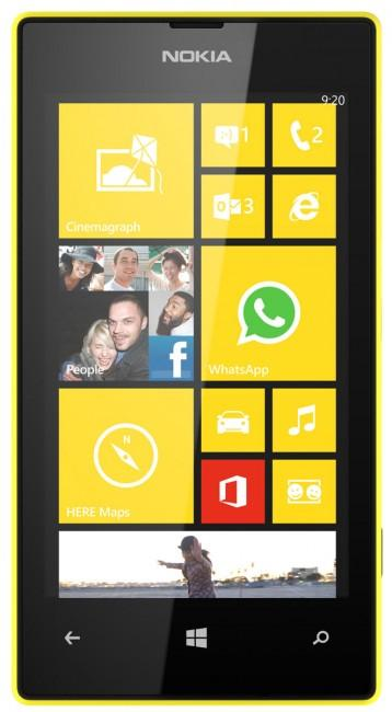 Nokia Lumia 520 de color amarillo
